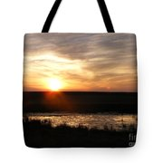 Sunset And Water Tote Bag