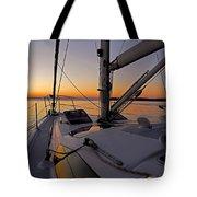 Sunset At Burlington Harbour ... Tote Bag