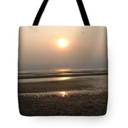 Sunset At Campground Beach Eastham Ma Cape Cod Tote Bag