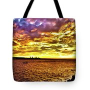 Sunset At Danshui Hdr Tote Bag