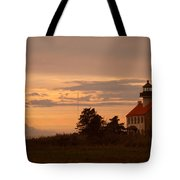 Sunset At East Point Light  Tote Bag
