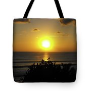 Sunset At Kuta Beach Tote Bag