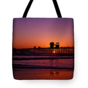 Sunset At Oceanside Pier Tote Bag