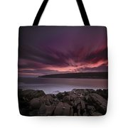 Sunset At Otter Point Tote Bag