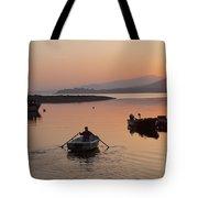 Sunset At Rosdohan Pier Near Sneem Tote Bag
