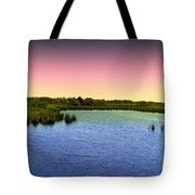Sunset At Sandpiper Pond Tote Bag