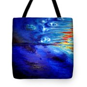 Sunset At Sea By Ted Jec. Tote Bag