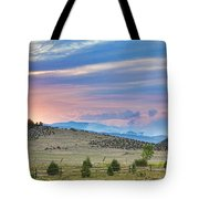 Sunset At The Colorado High Park Wildfire  Tote Bag