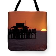 Sunset At The Pier Tote Bag