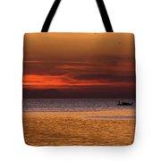 Sunset At The Sea Tote Bag