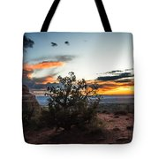 Sunset At Turrent Arch Tote Bag