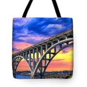 Sunset At Yaquina Bay Tote Bag