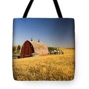 Sunset Barn And Wheat Field Steptoe Tote Bag