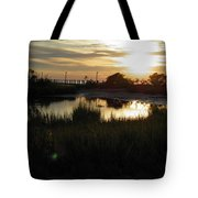 Sunset Cape Charles Virginia Tote Bag