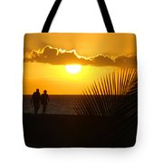 Sunset Couple Tote Bag