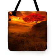 Sunset Duet Tote Bag