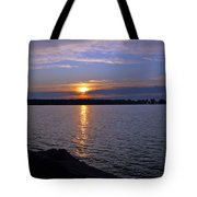 Sunset Egg Harbor Tote Bag