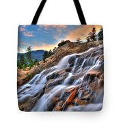 Sunset Falls Landing Tote Bag