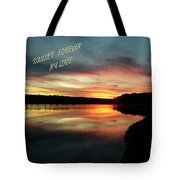 Sunset Forever My Love Tote Bag