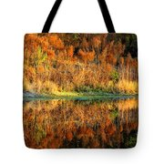 Sunset Glow On The Pond Tote Bag