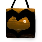 Sunset Hearts Tote Bag