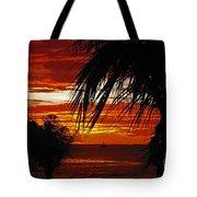 Sunset In Cancun Tote Bag