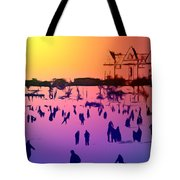 Sunset In Central Park Tote Bag