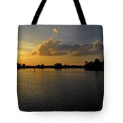 Sunset In Clearwater Florida Tote Bag