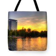 Sunset In Hermann Park Tote Bag