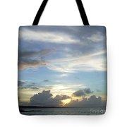 Sunset In Majuro Tote Bag