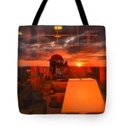 Sunset In Mckeever Lobby Tote Bag