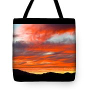 Sunset In Motion Tote Bag