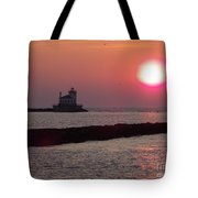Sunset In New York Tote Bag