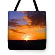 Sunset In Wayne County Tote Bag