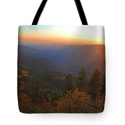 Sunset In Yosemite Tote Bag