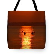 Sunset Kayakers Tote Bag