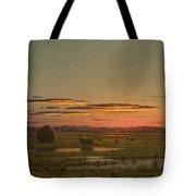 Sunset Tote Bag by Martin Johnson Heade
