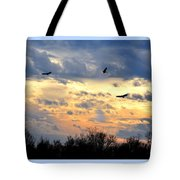 Sunset Of The Hawks Tote Bag