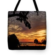 Sunset On Biloxi Bay Tote Bag