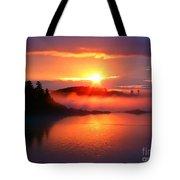 Sunset On Campobello Island  Tote Bag