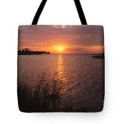 Sunset On Eagle Harbor Tote Bag
