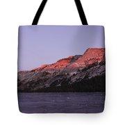 Sunset On Frozen Tenaya Lake Tote Bag