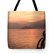 Sunset On Lake Como Tote Bag
