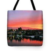 Sunset On Lake Havasu Tote Bag