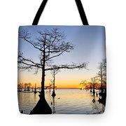 Sunset On Lake Mattamuskeet Tote Bag