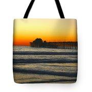 Sunset On Oceanside Beach Tote Bag