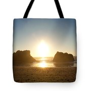 Sunset On Ruby Beach Tote Bag