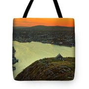 Sunset On St. John's Harbour Tote Bag