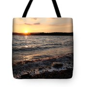 Sunset On The Bay Of Fundy Tote Bag
