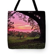 Sunset On The Bench Tote Bag